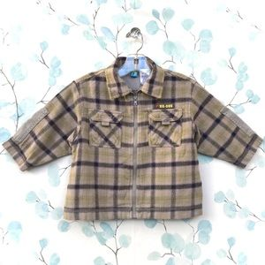 Gymboree Plaid Flannel Long Sleeve Zippered Shirt